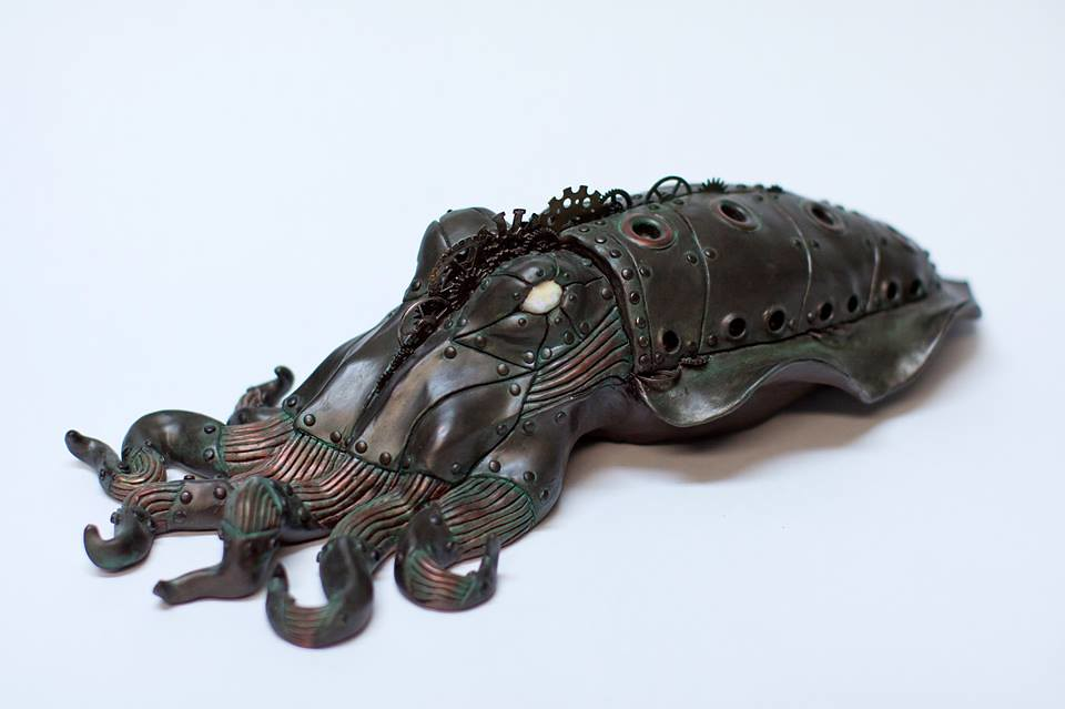 Steampunk Cuttlefish by Calder Kibyuk Designs