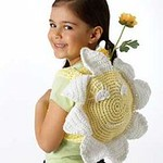 Smiling Sunflower Bag - Free Crochet Backpack Pattern