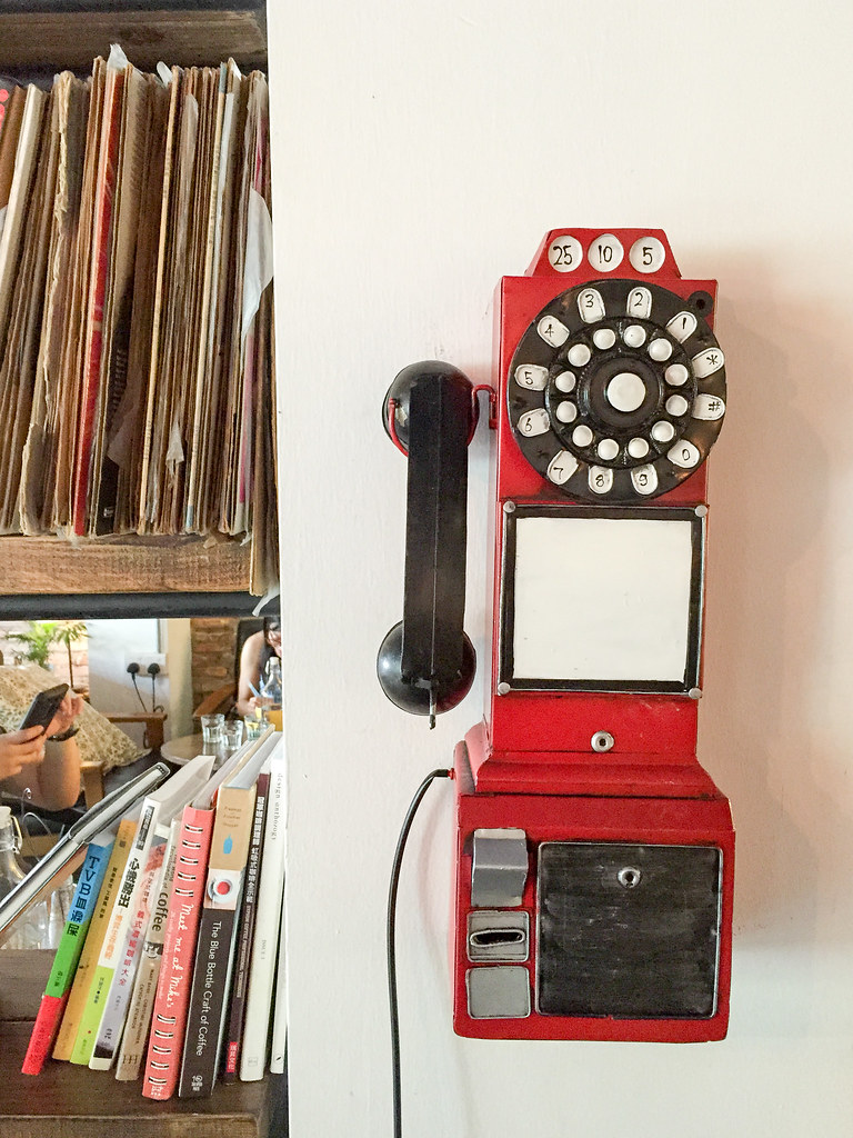 An antique phone at Backlane Coffee Melaka