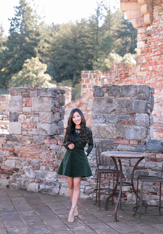 holiday party skirt outfit modcloth Castello di Amorosa
