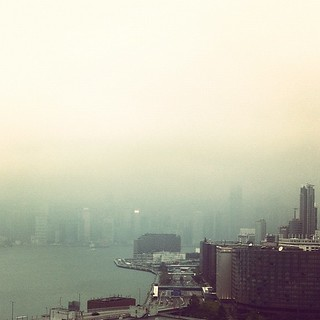 Hong Kong Island is in the fog somewhere | by Andrew Farmer