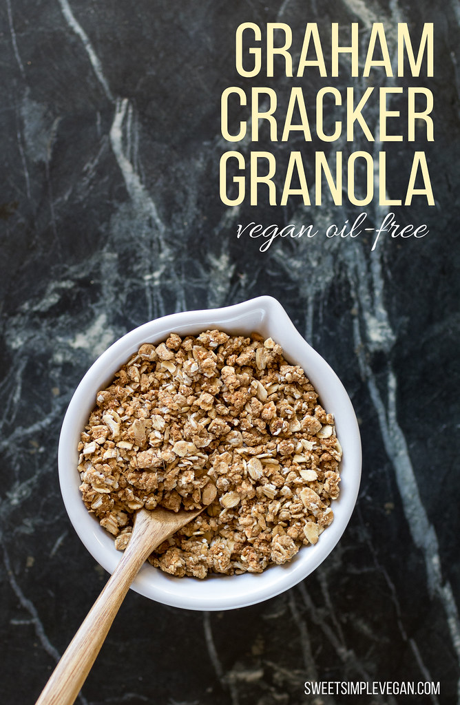 Vegan Graham Cracker Granola (oil-free w/ gluten-free option) sweetsimplevegan.com