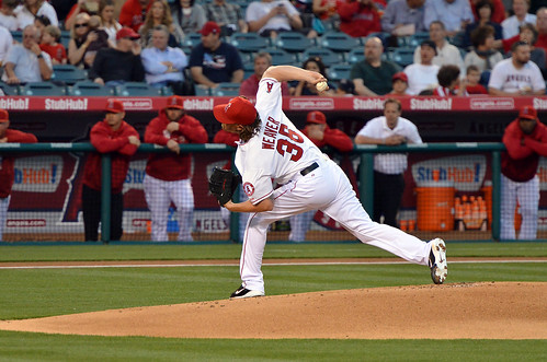 Jered Weaver Records 1000th Strikeout | by acase1968