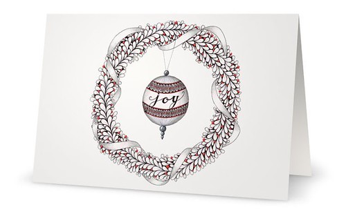 Zentangle-Inspired Art Holiday Greeting Cards by Laurel Regan, CZT