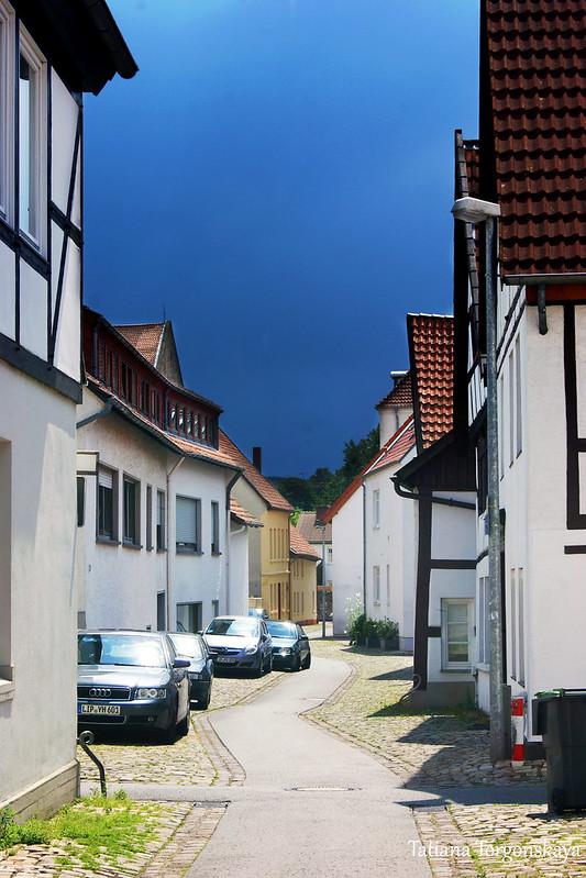 Дома на тихой улочке в Лемго