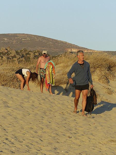 arrivée dans les dunes