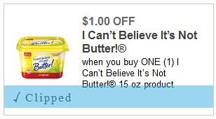 High Value I Can't Believe It's Not Butter Coupon