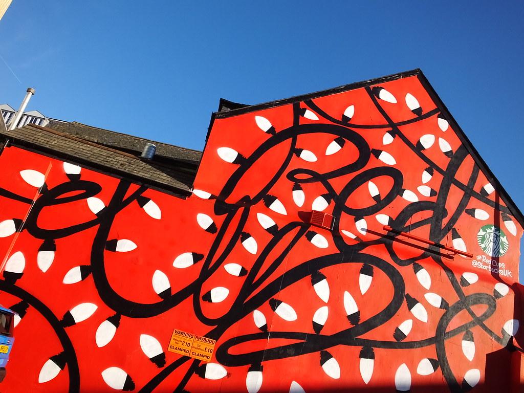 Starbucks street art, Cardiff