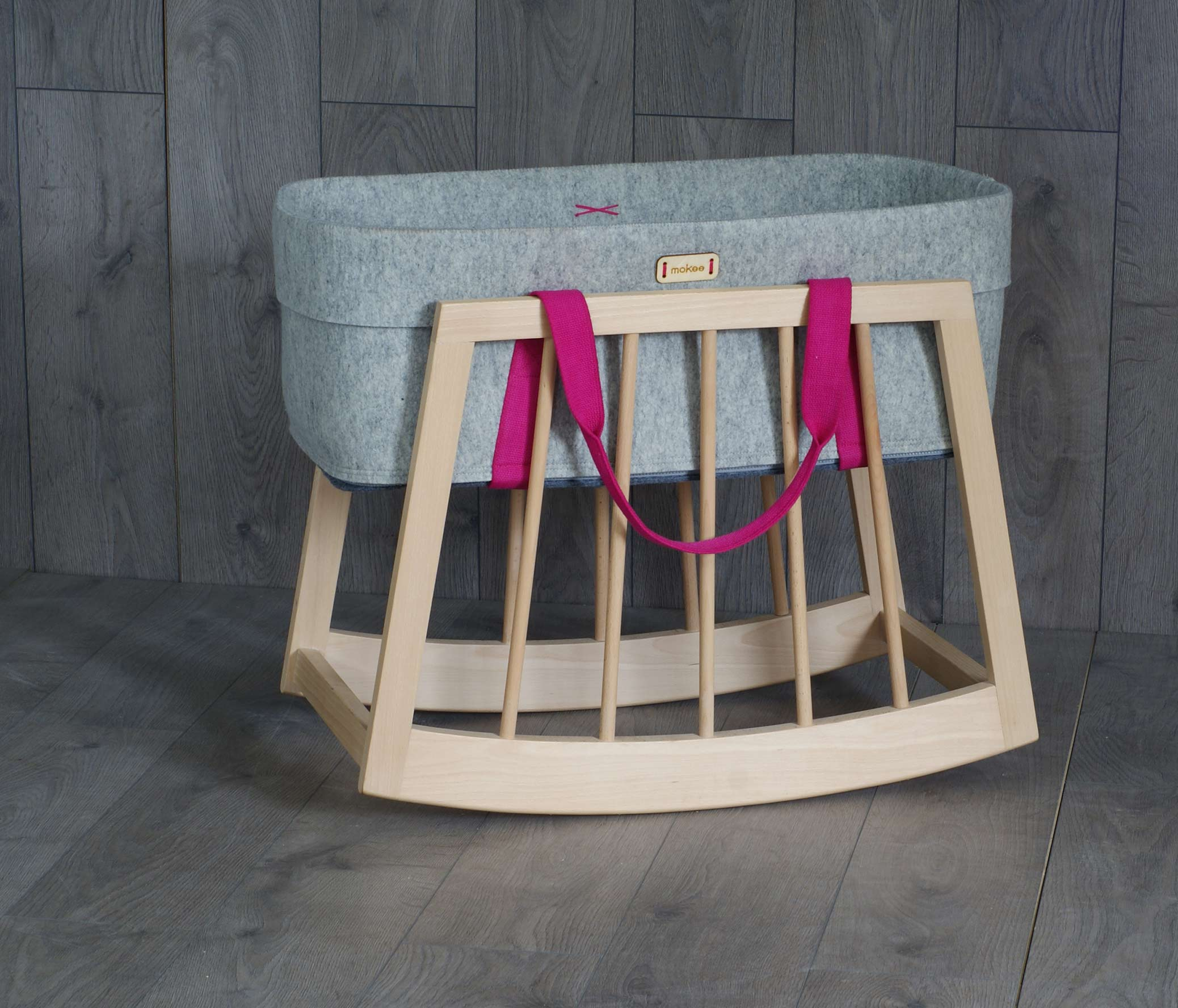 Mokee Rocker for moses basket