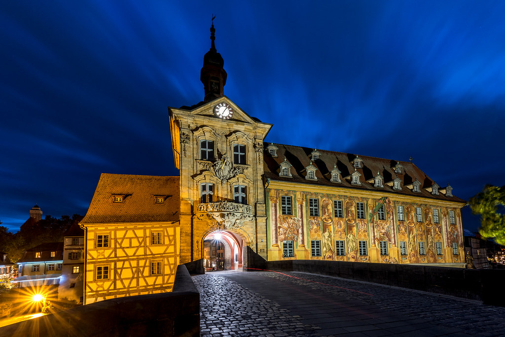 Altes Rathaus Bamberg bei Nacht 1