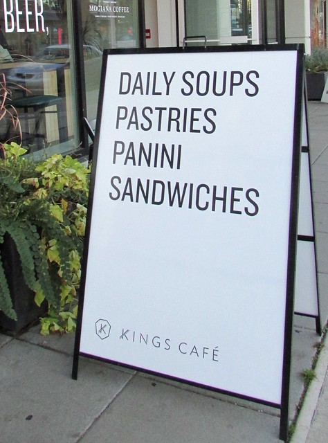 Lunch at Kings Cafe on Kingsway, Vancouver, British Columbia