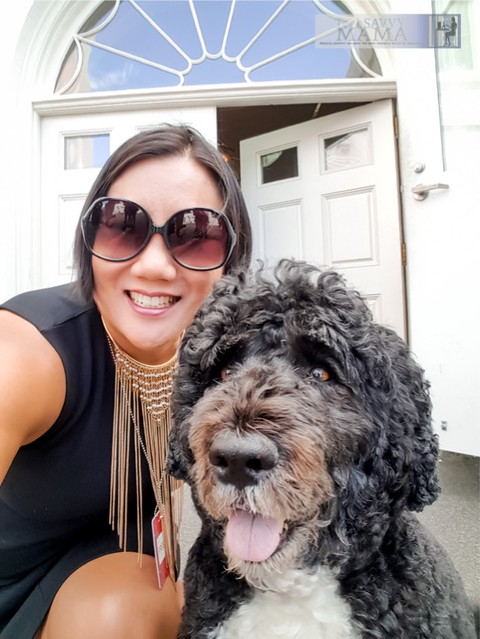 Selfie with Bo, the Obama's Dog