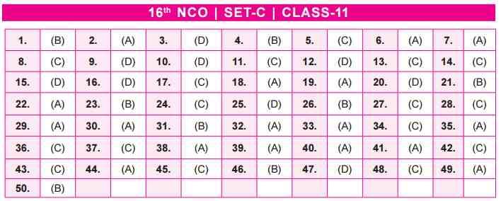 NCO Answer Keys class 11