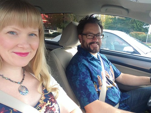 On our way to a co-ed baby shower. It's a beautiful sunny day! 🌞