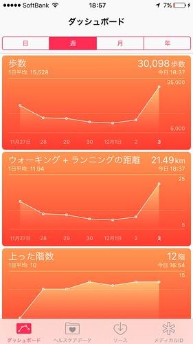 秋季ITSウォーキング大会 歩数30000歩超え!