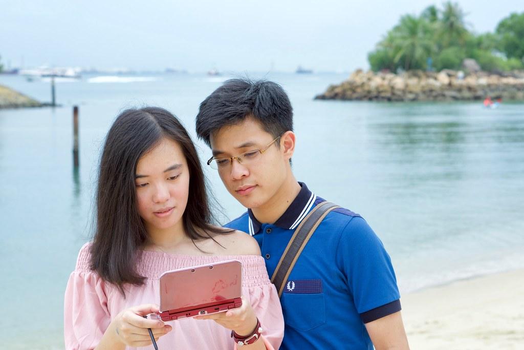 Joshua & Tiffany at Siloso Beach.