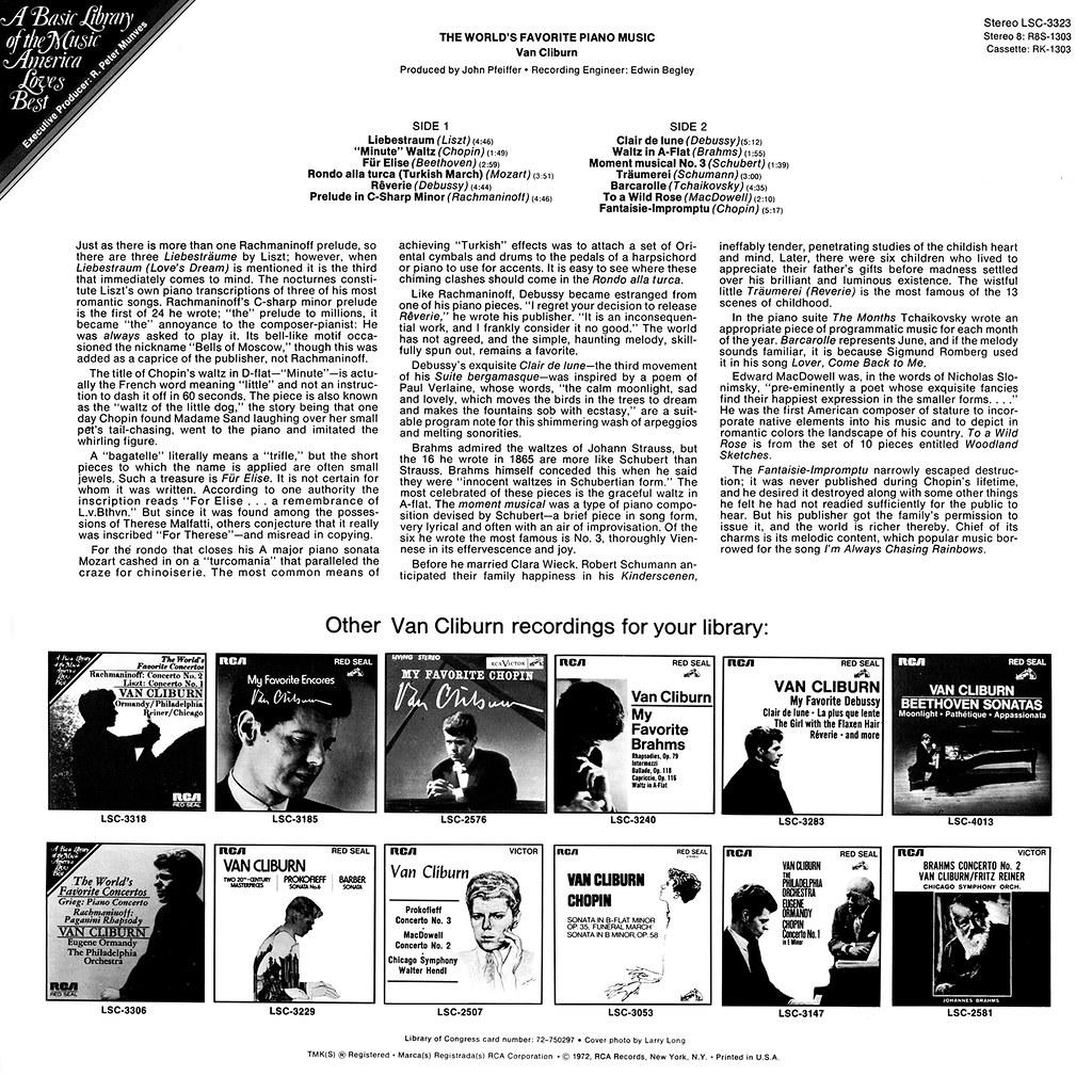 Van Cliburn - The World's Favorite Piano Music
