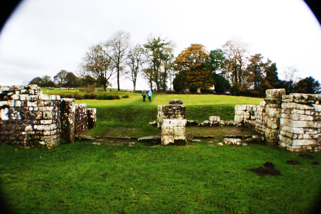 East Gate at Birdoswald Roman Fort, Hadrian's Wall.