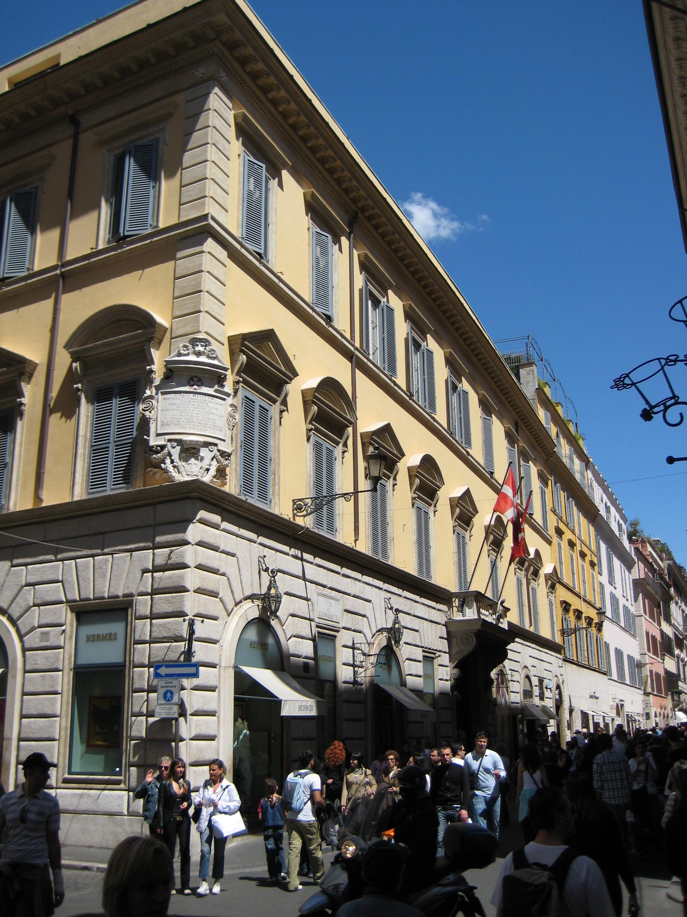 """Մալթական պալատը <br>Լուսանկարը՝ <a href=""""https://en.wikipedia.org/wiki/File:Palazzo_Magistrale_(Rome)_1.jpg"""" target=""""_blank"""">Վիքիփեդիայի</a>"""
