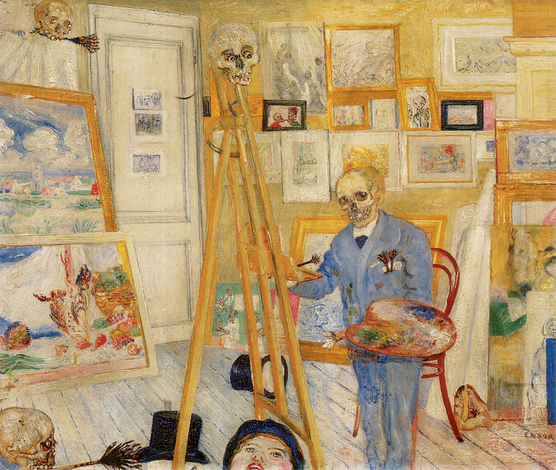 James Ensor - The Skeleton Painter, 1896