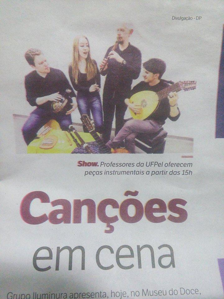 Matéria do jornal Diário Popular sobre o Grupo Iluminura