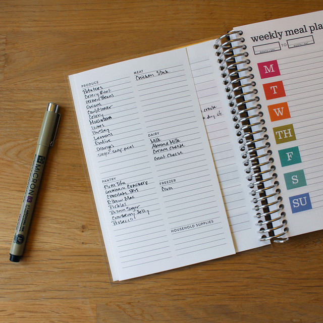 Meal Planner Review Grocery List