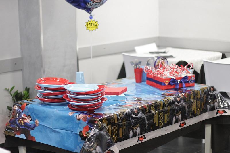 Festa Batman VS Superman tavolo