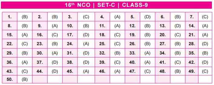 NCO Answer Keys class 9