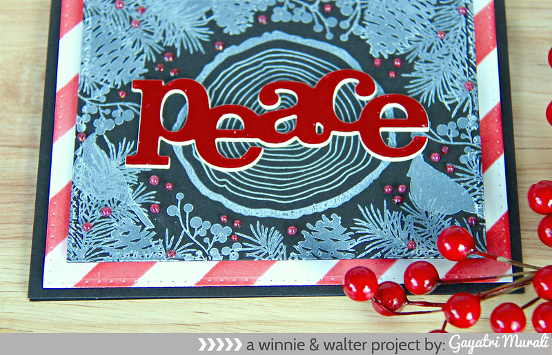 Peace card closeup
