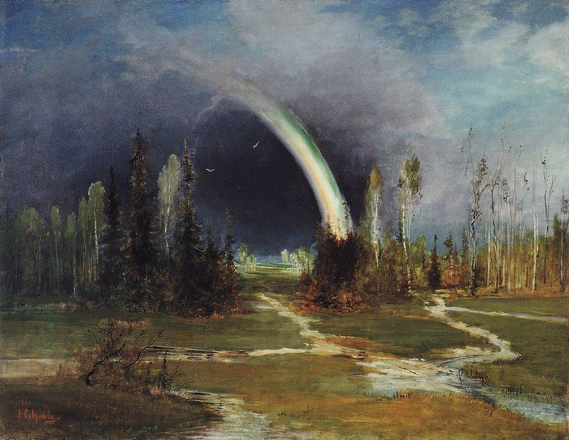 Alexei Savrasov (1830–1897) Link back to Creator infobox template wikidata:Q353008 Title  Landscape with a Rainbow Date   1881