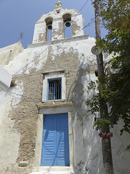 église à la porte bleue