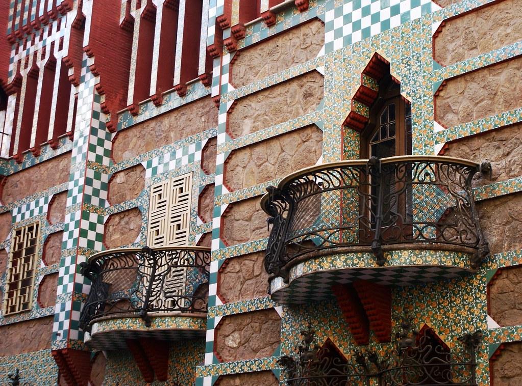 Casa Vincens, première construction de Gaudi à Gracia.