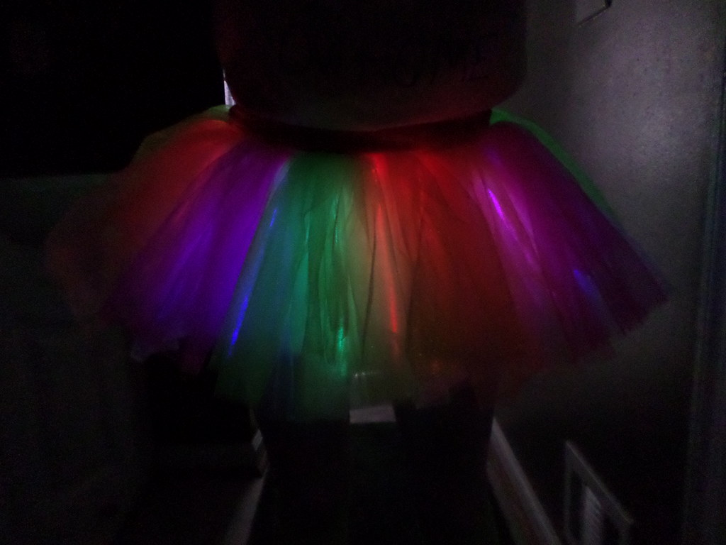 Glowing tutu for a glow run 5k