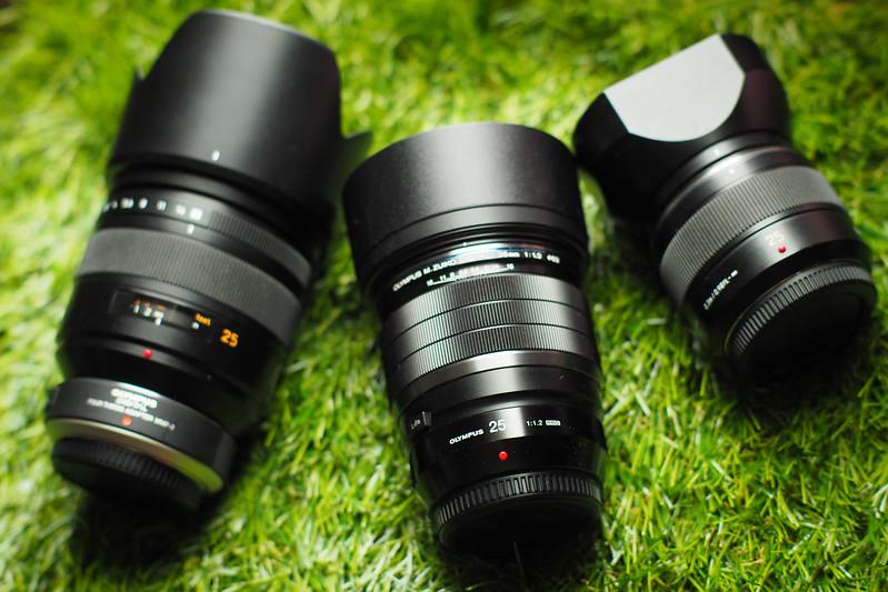 Olympus 25mm f/1.2 Pro Panasonic 25mm f/1.4 DG & D