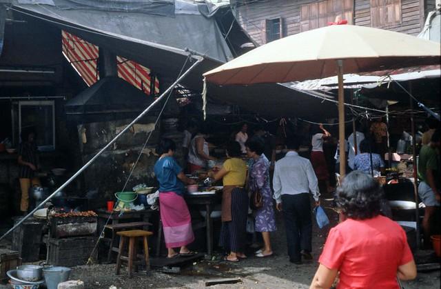 1981 124 Thailand Bangkok bij Chaophraya river