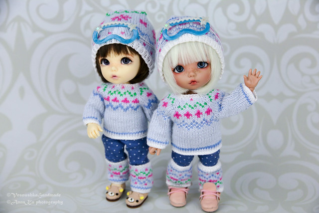 Winter sweaters & ski masks for pukifee