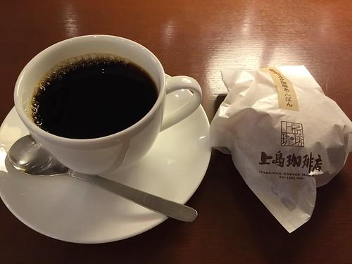 上島珈琲店 ネルドリップブレンドコーヒーと十勝あずきのミルク珈琲あんぱん