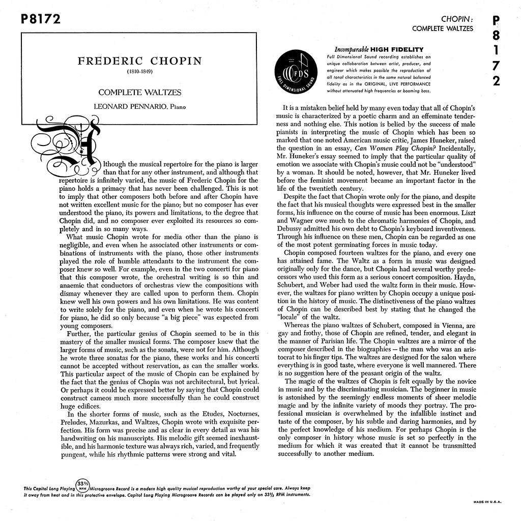 Leonard Pennario - Chopin Waltzes