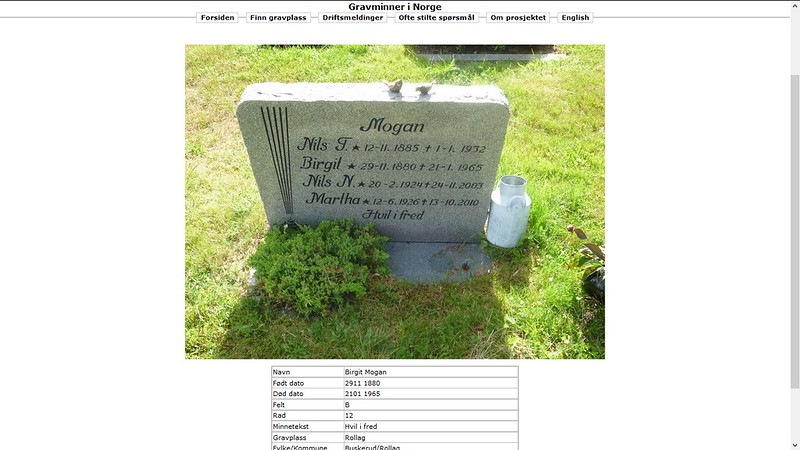 samme grav dis gravminner