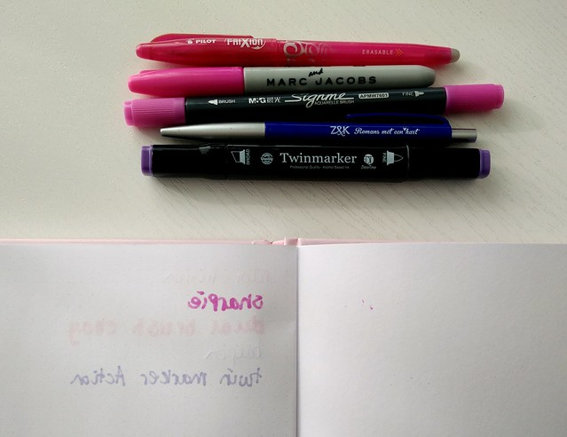 Blossom Books bulletjournal pen test 2