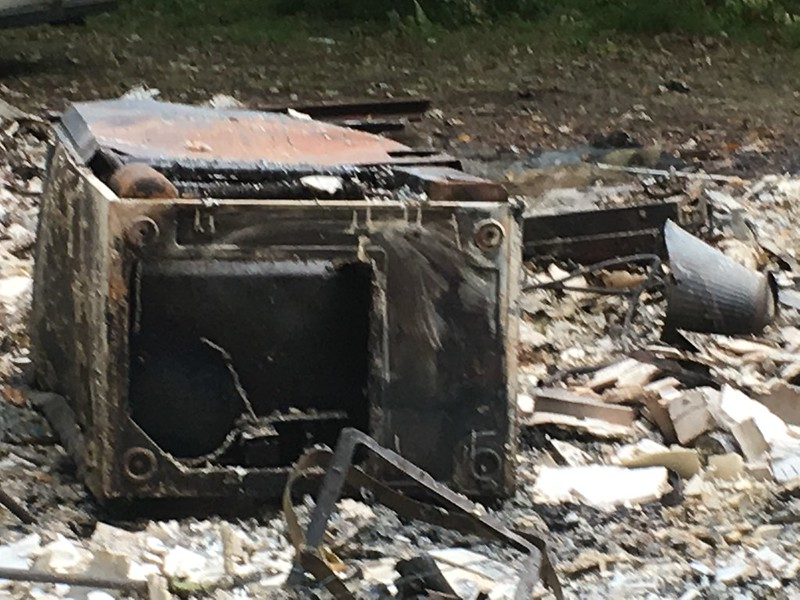 What is left of the Cabin after it was burned by low lives cooking meth. A go fund me has been set up to help rebuild. https://www.gofundme.com/2nw9bcfw