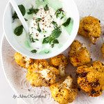Roasted Cauliflower with Yogurt Sauce