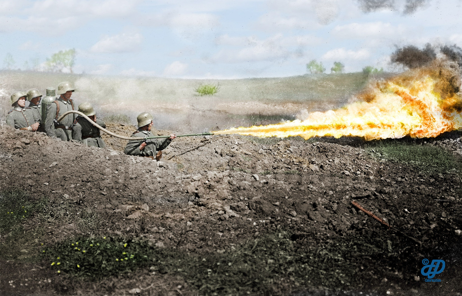 Flamethrower pioneers of Assault Battalion No. 5 (Rohr)