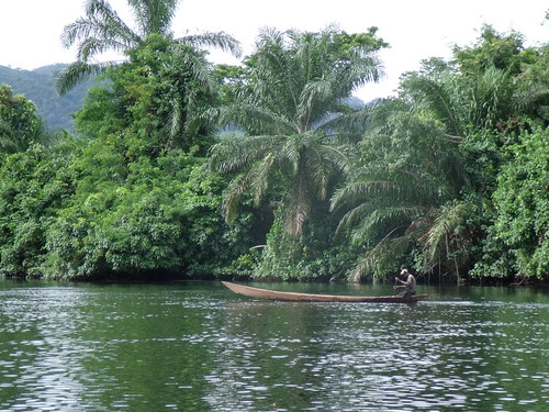 Wooden canoe near Lake Volta, Ghana. Photo by Curtis Lind, 2009.