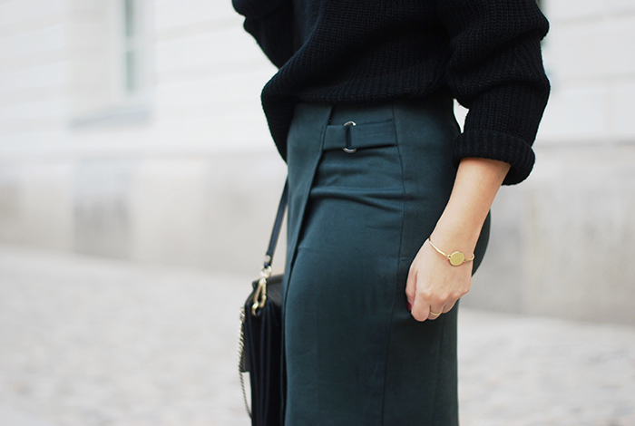 Green-wrap-skirt