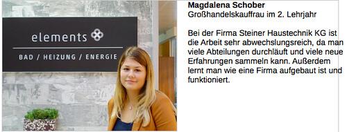 Lehrlings-Statement Magdalena