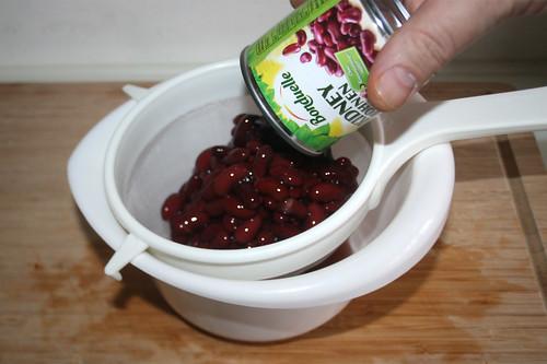 19 - Kidneybohnen abtropfen lassen / Drain kidney beans
