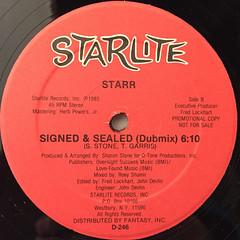 STARR:SIGNED & SEALED(LABEL SIDE-B)