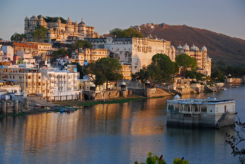 Udaipur Lake in the 'Golden Hour' (India)
