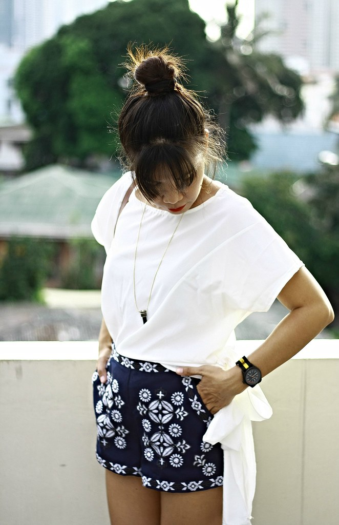 embroidery shorts